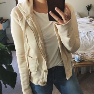 J.CREW/ french terry zip-up hoodie